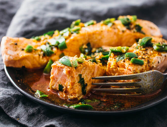 Instant Pot Salmon with Lime & Chili Sauce
